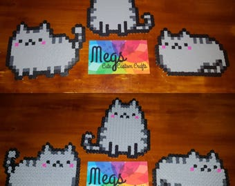 Perler Bead Art - Pasheen the cat