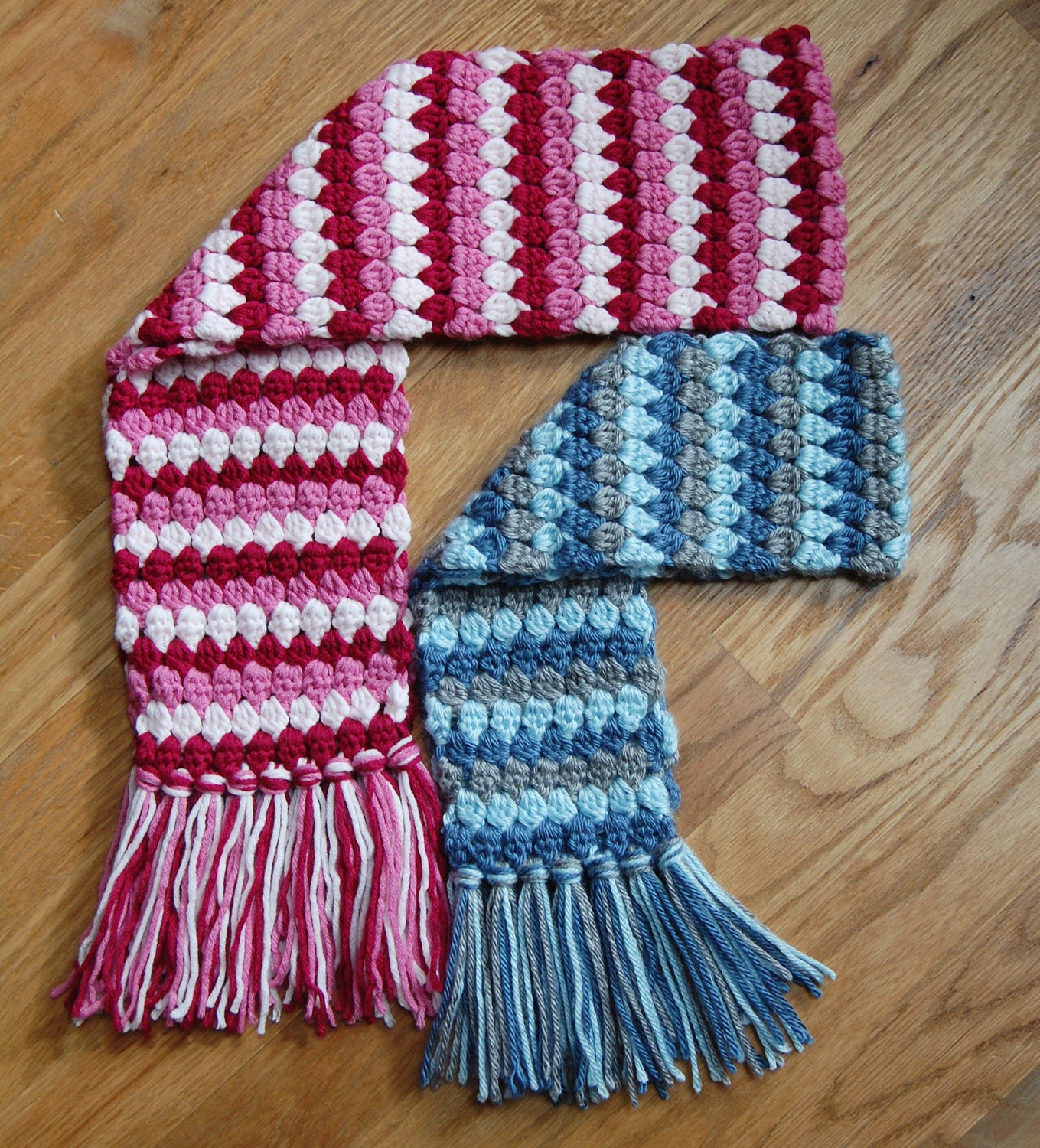 Crochet Pattern - Mod Scarf (3 sizes: toddler, child, teen/adult ...