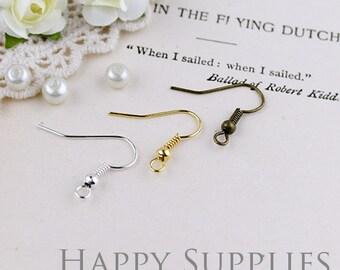 100pcs Nickel Free 19mm Earring Hook Earring Wire (20336/HE142/HE143)