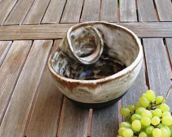 handmade ceramic bowl for home decor, decorative ceramic bowl for home, contemporary art gift for mom, a unique art gift for wedding