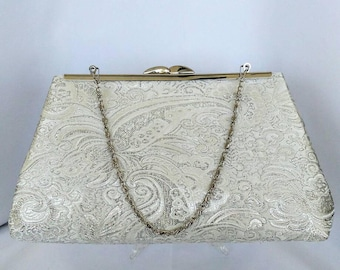 silver white gray wedding evening prom bridal clutch purse  BBsCustomClutches