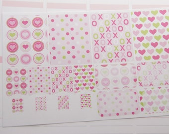 Valentine Planner Stickers Hearts, XOXO, Dots Planner Stickers Plum Paper Planners eclp PS351