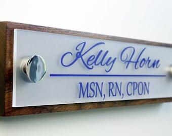 Door name plate | Etsy