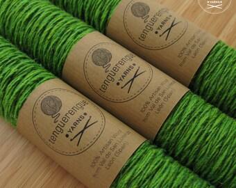 Artisan wool. Apple green.