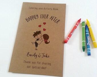 Wedding coloring book / Wedding coloring book for kids / kids activity book / kids wedding table / kids wedding activities - Set of 6