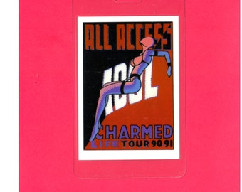 Music, 1990, 1991, BILLY IDOL, Charmed Life Tour, All Access Pass, Rocker, Original, Authentic, Unused, NOS, Vintage, Backstage Pass