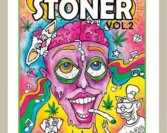 Stoner coloring book | Etsy