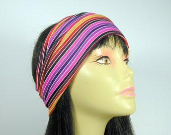 Summer Head Wrap Boho Head Wrap Jersey Head Wraps Athletic Headgear Yoga Head Wrap All Seasons Head Wrap Colorful Lightweigtht Boho Headwrap