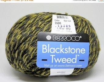 ON SALE New Berroco Blackstone Tweed 100 Wool Blend Yarn/1 Ball/Seaside/ 2680