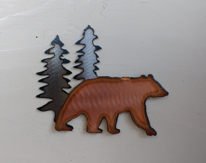 Bear In the Pines Mini Sculpture