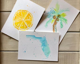 Greetings from Florida! Watercolor Postcards