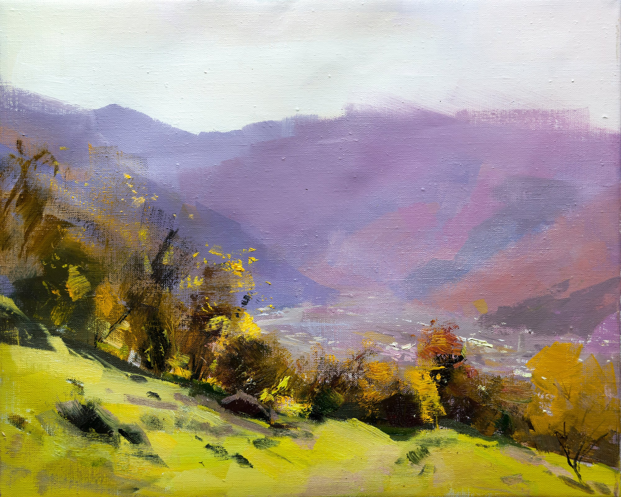 Moderne Landschaft Malerei Natur impressionistischer Kunst