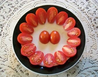 Cherry Tomato- Red Plum- heirloom- 73 day- INDETERMINATE- 25 seeds