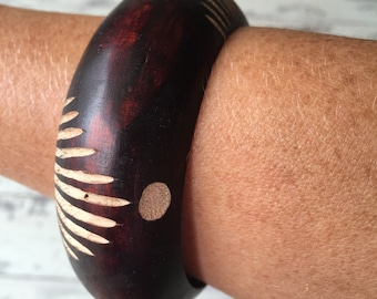 Carved Wooden Bangle