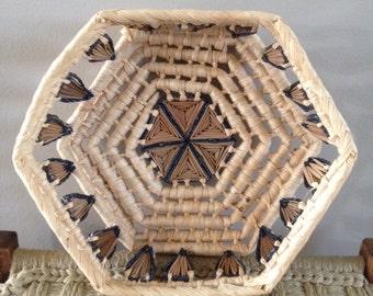 vintage coiled basket