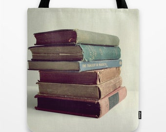 Books Photo Tote Bag School Tote Bag Choose your size