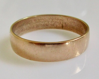 9ct Rose Gold Wedding Ring Band Dated 1915