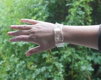 Real dandelion Resin bracelet Real flower bracelet Bangle bracelet Make a wish bracelet for her inspirational gift Natural jewelry