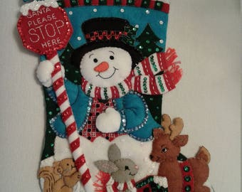 Bucilla Handmade Christmas Stocking  - Santa's Stop Here