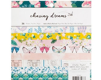 ON SALE Crate Paper Chasing Dreams 6x6 Paper Pad, 36 sheets