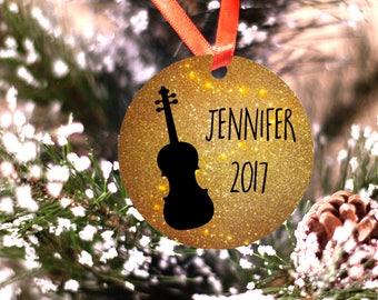 Personalized Violin or Viola Musician Orchestra Ornament