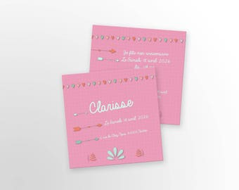 Birthday invitation card - A customize - model Clarisse - birthday invitation card - child/adult