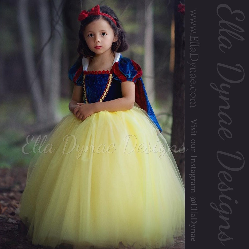 ?zoom  sc 1 st  Etsy & Size 3/4/5 READY_TO_SHIP Snow White Costume