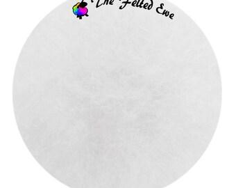 Needle Felting Maori Wool Batt / FB1 Snow Blind Maori Wool Fluffy Batt