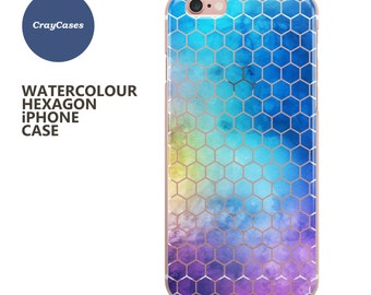 Hexagon iphone 6s case, iphone 8 case Clear iPhone 7 case Hexagon iPhone 6 Case also available for 6 Plus & 6s Plus (Shipped From UK)