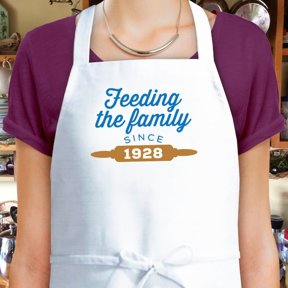 90th Birthday 1928 Gift Custom Apron Cooking Present 90 Years Old