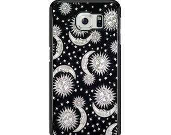 Vintage Sun Stars and Moon for Samsung Galaxy S3 / S4 / S5 / S6 / S6 Edge / S6 Edge Plus / S7 / S7 Edge Samsung Galaxy Phone Cover - Case