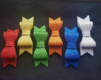 Medium glitter hair bow clip