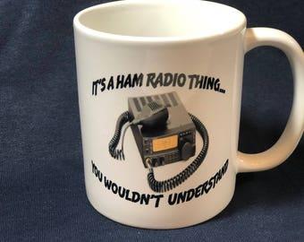 Ham Radio Custom 11 oz Coffee Cup with Personalization