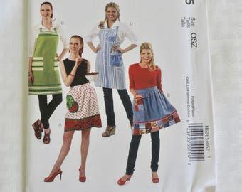 McCalls M6365 Size 8-22 Misses Aprons Sewing Pattern / Uncut/FF