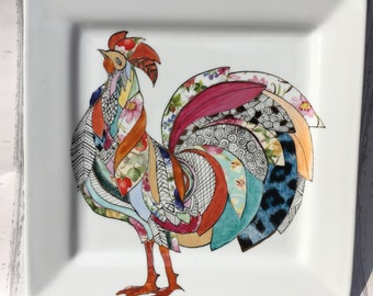 Rooster wall plate