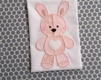 Baby Applique Machine Embroidery Design Patchwork Bunny