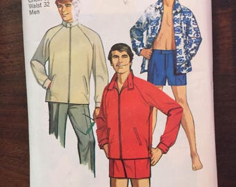 Vintage 70s Simplicity 8857 • size chest 38, waist 32