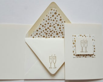 Small Card Collection - Champagne Toast