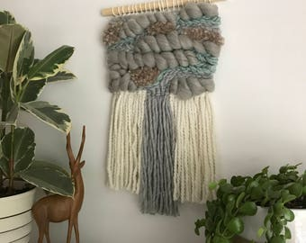 Handwoven Wall Hanging // Weaving // Woven Art