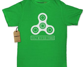 Fidget With Your Spinner Womens T-shirt