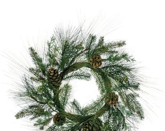 """Mixed Sugar Pine Wreath 24"""""""