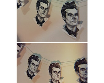 Morrissey! print, comes with 5 bunting pieces