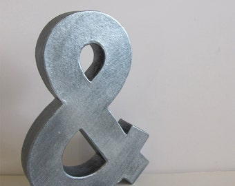 Amperstand - Faux Metal Alphabet Letter - your choice of letter