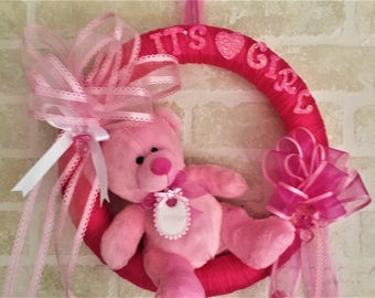 Baby Door Wreath I Made This Poly Deco Mesh Wreath For My Daughter