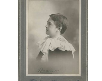 Boy in Lace Collar Vintage Photo