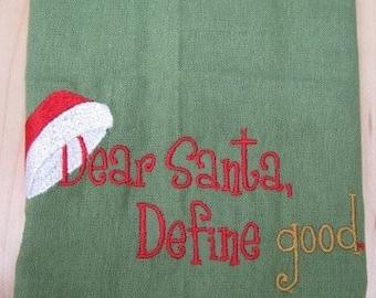 Dear Santa I Can Explain Towel - EXTRA STOCK