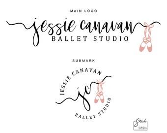 Ballet Shoes Logo - Ballet Studio Logo - Dance Studio Logo - Ballerina Logo