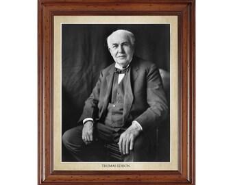 Thomas Edison portrait; 16x20 print on premium heavy photo paper