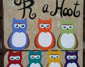 Personalized Hand-painted Owl Canvas