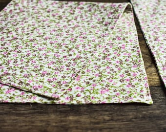 Pink & Green Cotton Baby Burp Cloths
